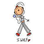 I Walk Stick Figure T-shirts and Gifts