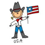 USA Stick Figure T-shirts and Gifts