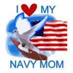 Love My Navy Mom T-shirts and Gifts