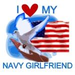 Love My Navy Girlfriend Tshirts and Gifts
