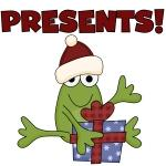Frog Presents Holiday Tshirts and Gifts