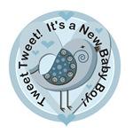 Tweet Tweet New Boy Tshirts and Gifts