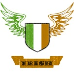 Irish Winged Crest T-Shirts