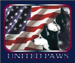 Siberian Huskies United Paws US Flag Gift Items