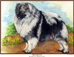 Keeshond Painting Dog Art Gifts & Products