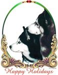 Two Siberian Huskies Holiday Items & Gifts