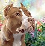 Pit Bull Painting