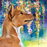 Basenji Painting
