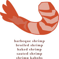 All kinds of shrimp