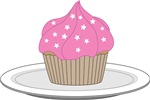 Cupcake with Pink Frosting 2
