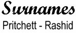 Vintage Surname - Pritchett - Rashid