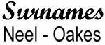 Vintage Surname - Neel - Oakes