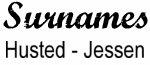 Vintage Surname - Husted - Jessen