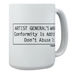 Artistgeneral Warning Mugs