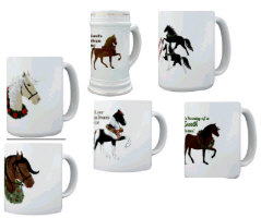 Gaited Horse Christmas Mugs!