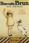 Biscuit Brun, Cookie, Vintage Poster