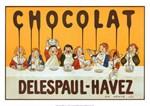 Chocolat, Delespaul-Havez, Vintage Poster