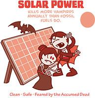 Vampires Hate Solar Power (Red)