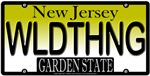 Wild Thing New Jersey Vanity License Plate