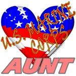 U.S. Marine Corps Aunt T-shirts & Gifts