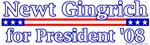 Newt Gingrich For Presdient T-shirts & Gifts