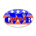 W '04 (George Bush) Oval Stickers