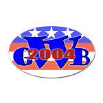 W '04 (George Bush) Oval Stickers