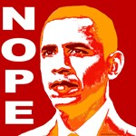 Nope Obama Soviet Style Poster Design