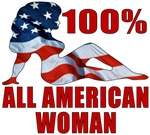 100% American Woman T-shirts & Merchandise
