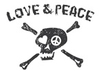 Peace & Love Skull