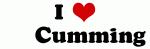 I Love       Cumming