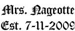 Mrs. Nageotte Est. 7-11-2009