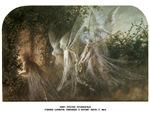 Fairies looking through a Gothic Arch