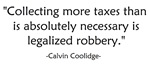 Calvin Coolidge Quote taxes
