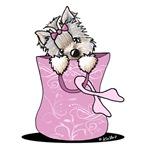 Pink Ribbon Yorkie Dog
