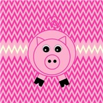 Pink Pig Zigzags