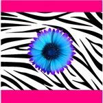 Blue and Purple on Pink & Zebra