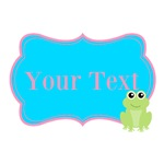 Personalizable Teal Pink Frog