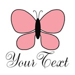 Personalizable Pink Butterfly