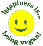 Happiness is... being vegan!