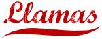 Llamas (red vintage)