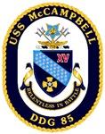 USS McCampbell DDG 85 US Navy Ship