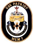 USS Patriot MCM 7 US Navy Ship
