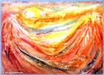 Sunrise, colorful, art,