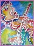 Violin! Music art!