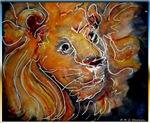 Lion! Wildlife art!