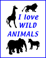 I LOVE WILD ANIMALS ON T-SHIRTS