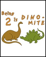 DINOSAUR T-SHIRT FOR 2 YEAR OLDS
