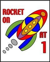 1st BIRTHDAY T-SHIRTS ROCKET