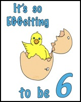 IT'S SO EGG-CITING TO BE 6 TEES